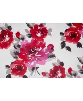 Tela NIVIA 3 terciopelo con rosas