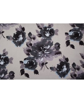 Tela NIVIA 5 terciopelo con rosas